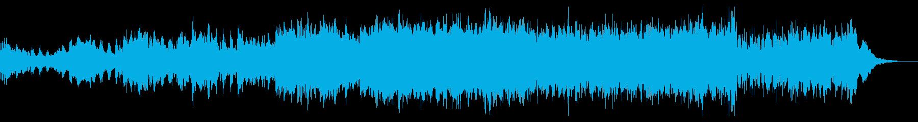 ダークなイメージの楽曲の再生済みの波形