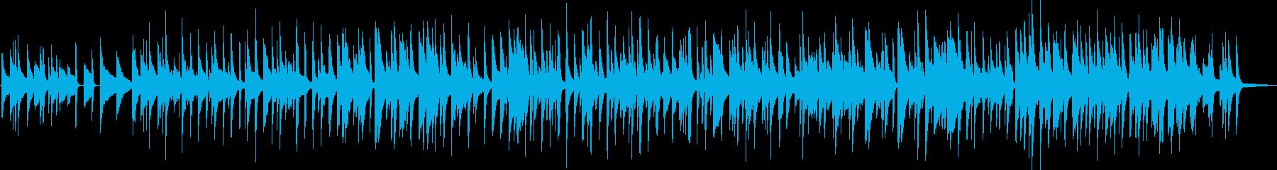 春らしいスローなジャズピアノの再生済みの波形
