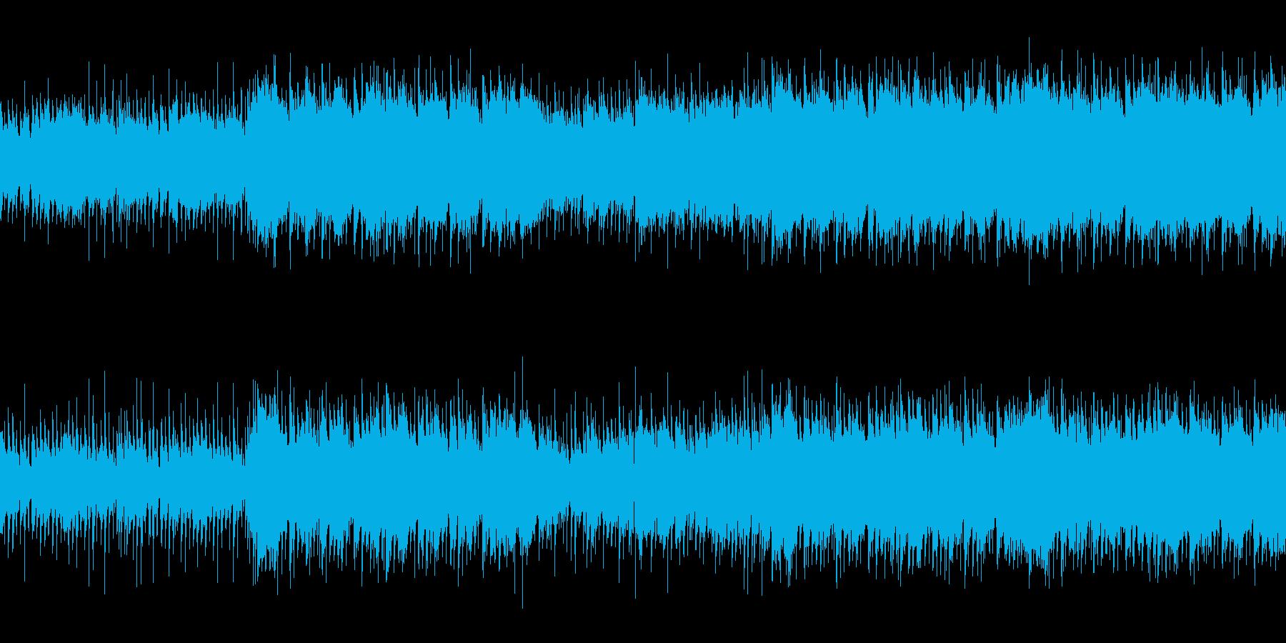 映画やアニメの日常シーン・爽やかアコギ曲の再生済みの波形