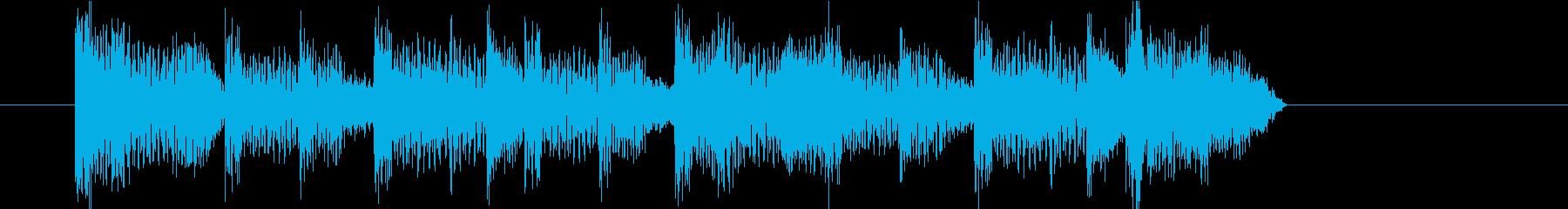 ジングル(ダンス1)の再生済みの波形