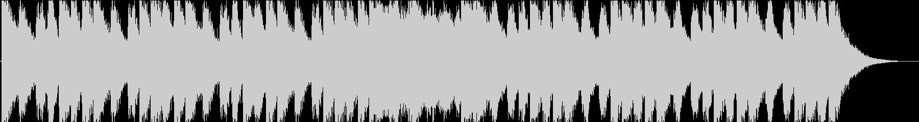 明るいファンファーレタイプの曲の未再生の波形