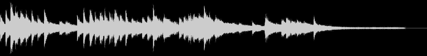 切ない和風ジングル26-ピアノソロの未再生の波形