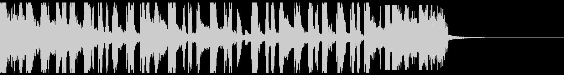 スクラッチとブレイクビーツなジングルの未再生の波形