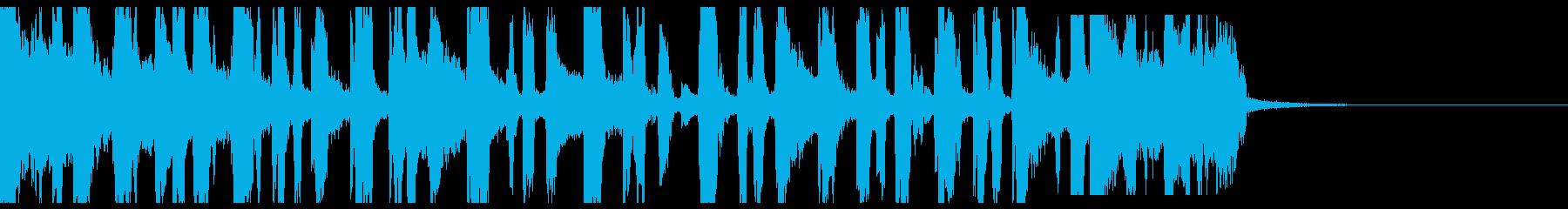 スクラッチとブレイクビーツなジングルの再生済みの波形