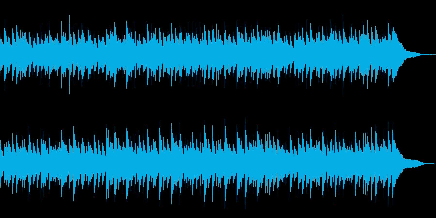 ピアノと鉄琴の穏やかなメロディーの再生済みの波形