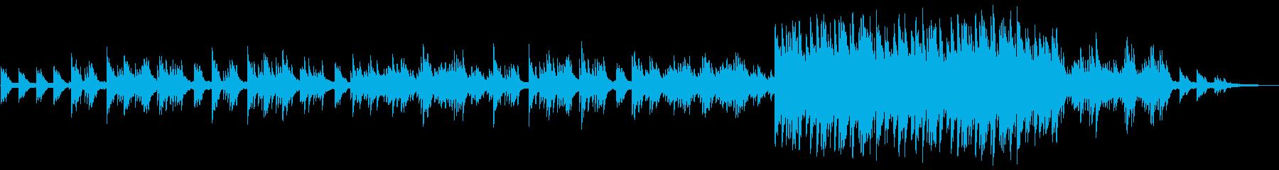 自然をイメージした切ないピアノのインストの再生済みの波形