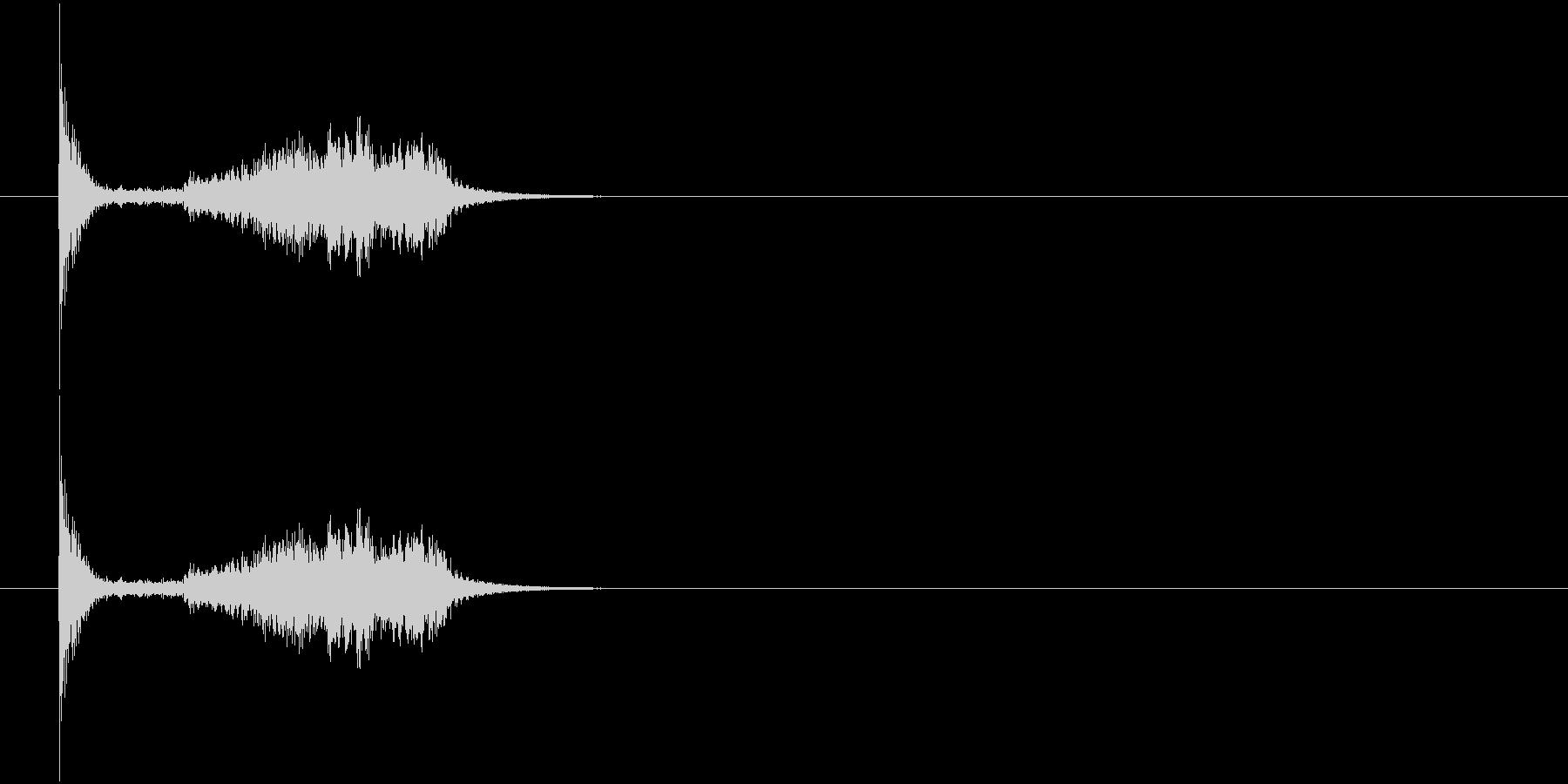 剣 擦る音2の未再生の波形