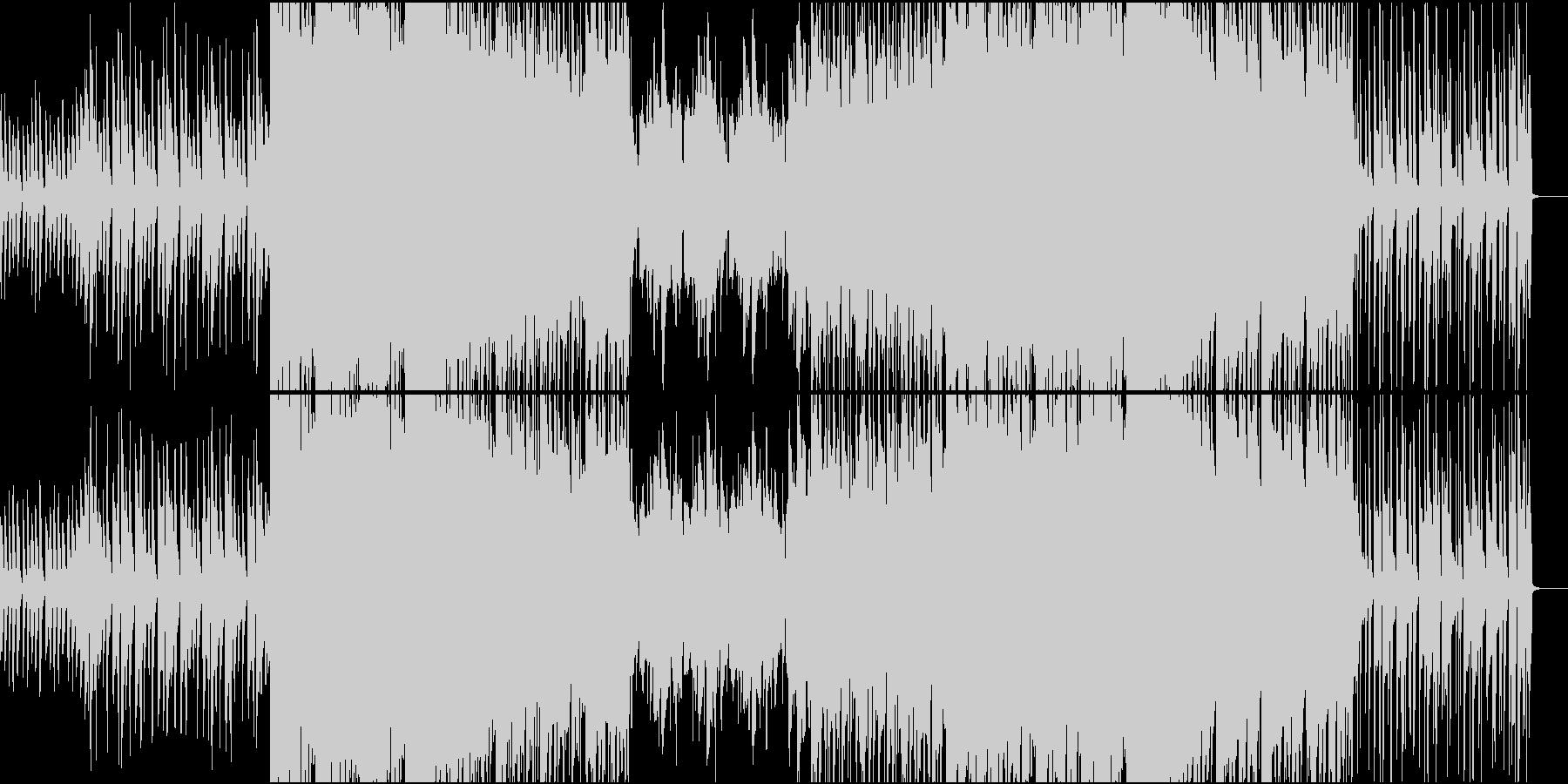 最近のトレンドを取り入れた洋楽R&Bの未再生の波形