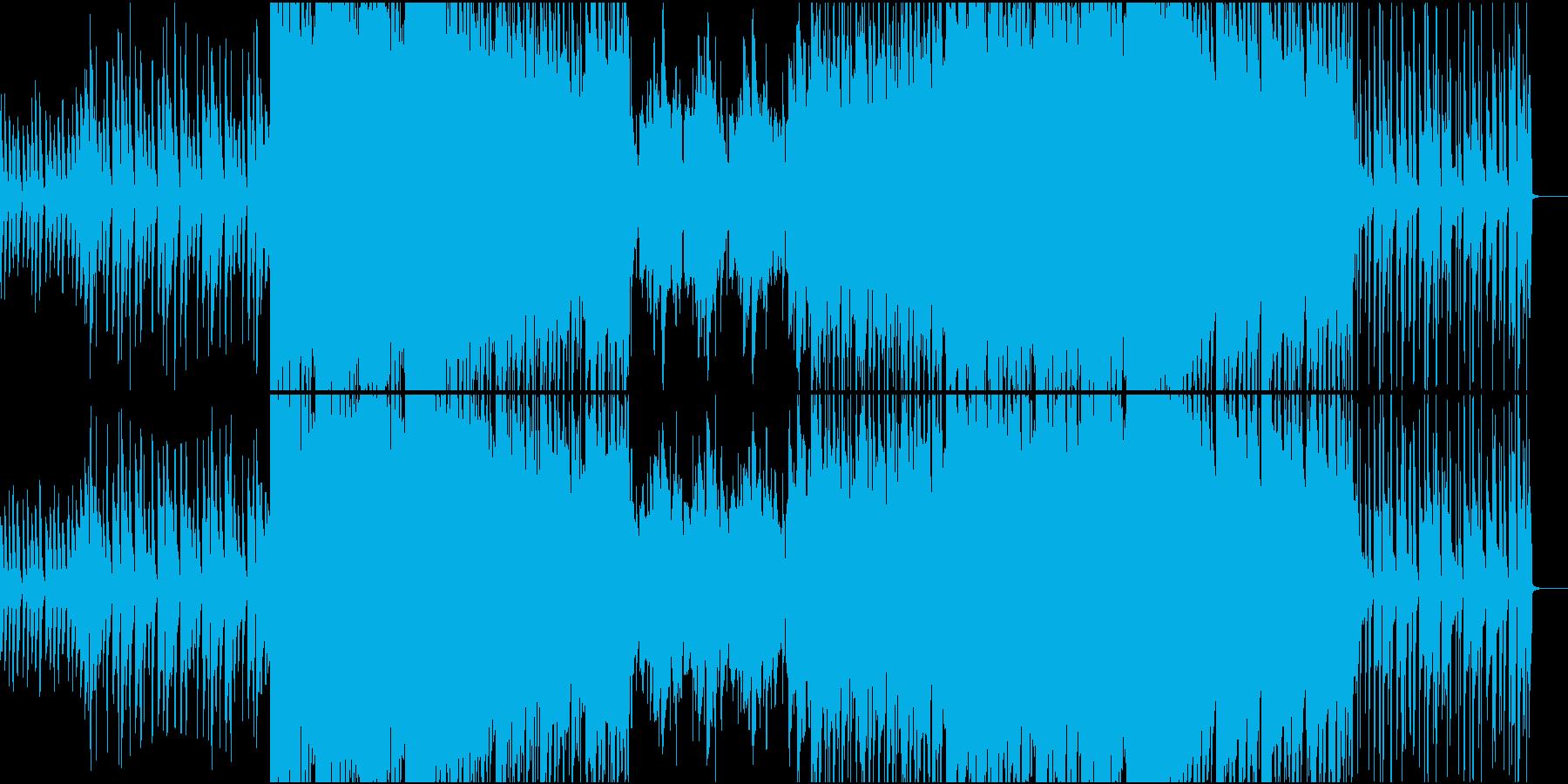 最近のトレンドを取り入れた洋楽R&Bの再生済みの波形