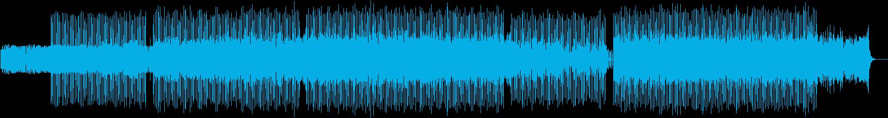 パレード風の楽しい元気なテクノポップの再生済みの波形