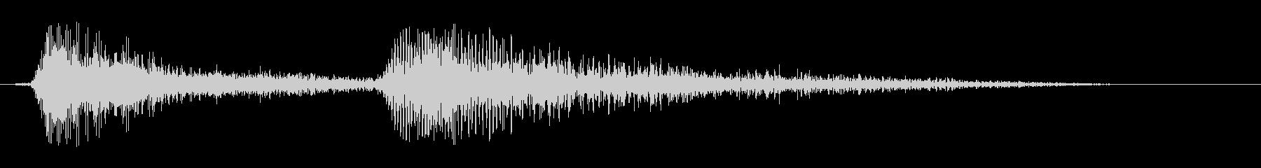 ギュッギュ(何かを閉めるような音)の未再生の波形