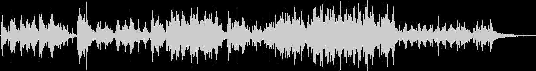 切なくノスタルジックなピアノ ジブリ風の未再生の波形