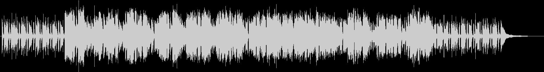 ピアノとフルートのオシャレなブルースの未再生の波形