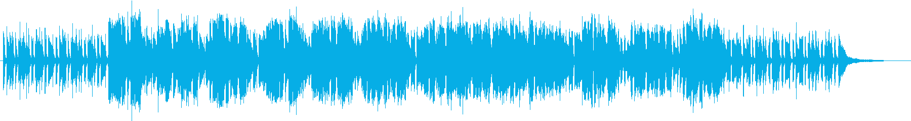 ピアノとフルートのオシャレなブルースの再生済みの波形