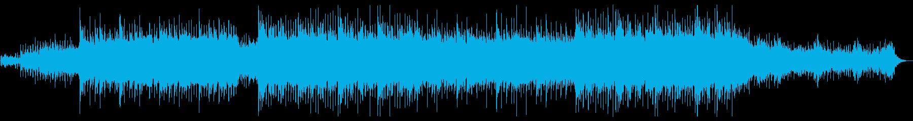 清涼感のあるピアノがきらきらしたBGMの再生済みの波形