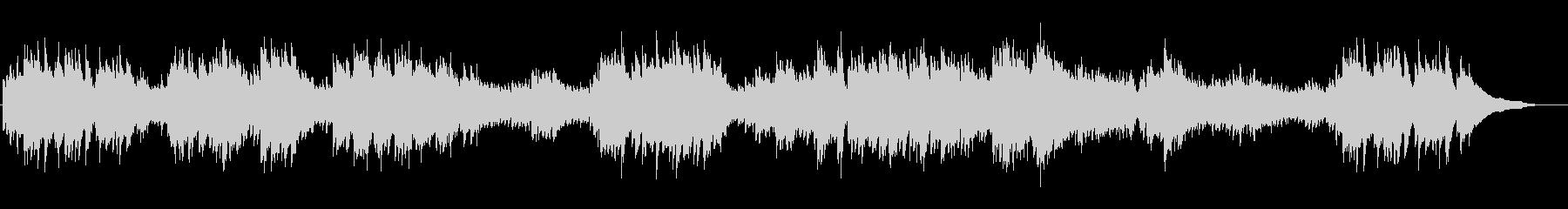 可憐でクルクル回転するイメージのピアノ曲の未再生の波形