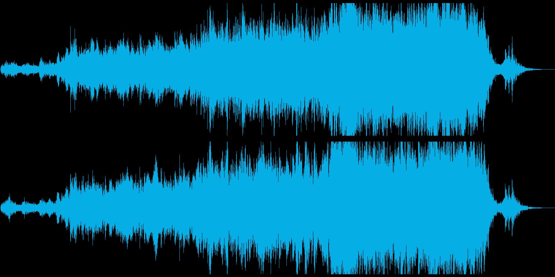 ローテンポなエピック系トレーラー音楽の再生済みの波形
