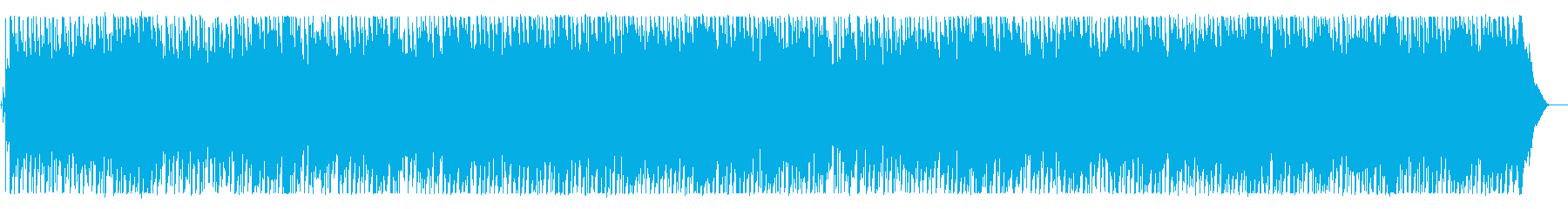 しとやかで広がりのある癒しのBGMの再生済みの波形