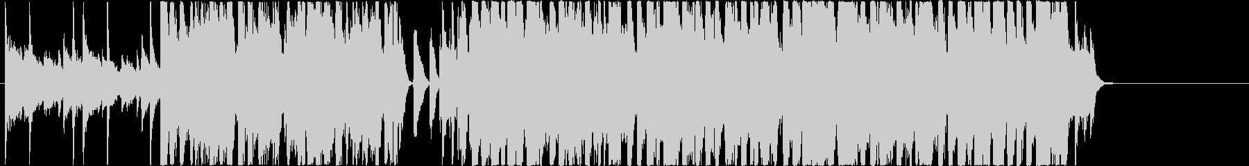 ジングルベルのジャズアレンジBGMの未再生の波形