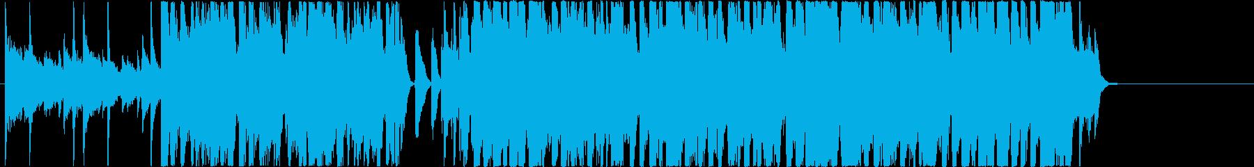 ジングルベルのジャズアレンジBGMの再生済みの波形