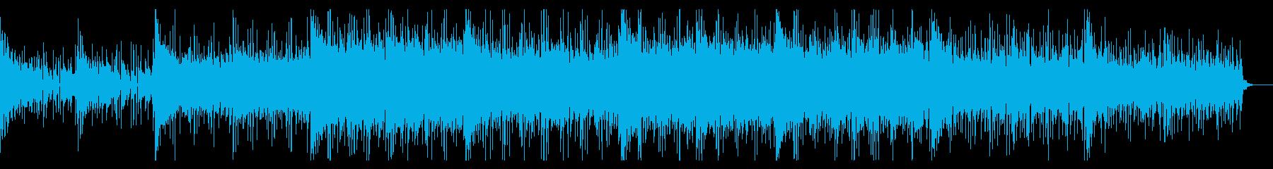 デジタルで不思議な空間のエレクトロニカの再生済みの波形