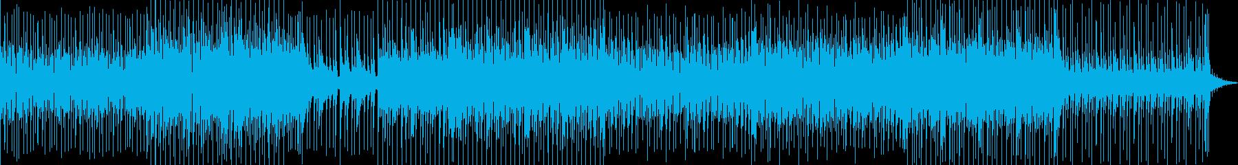 やさしくて明るく元気な雰囲気の曲の再生済みの波形