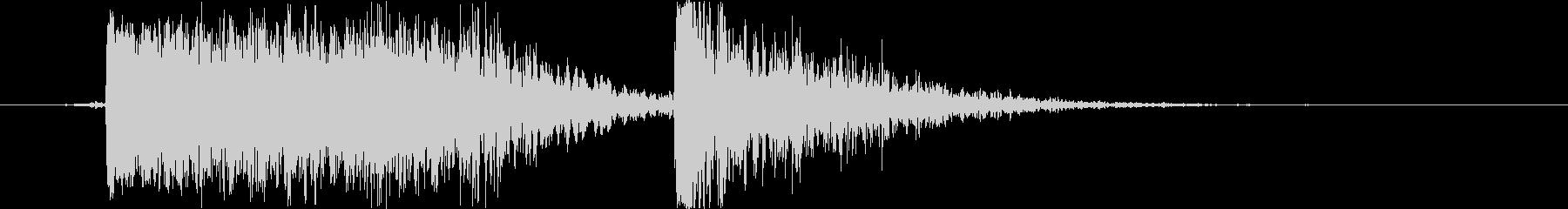 土魔法の音1(巨大な岩をぶつける)の未再生の波形