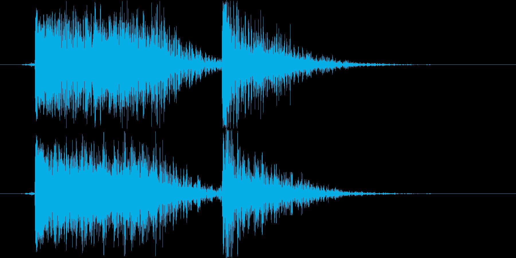 土魔法の音1(巨大な岩をぶつける)の再生済みの波形