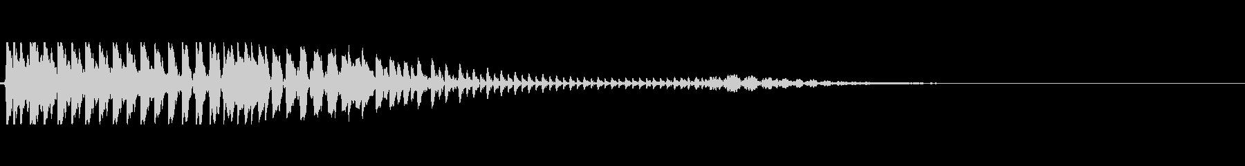 ポヨン 口琴の未再生の波形