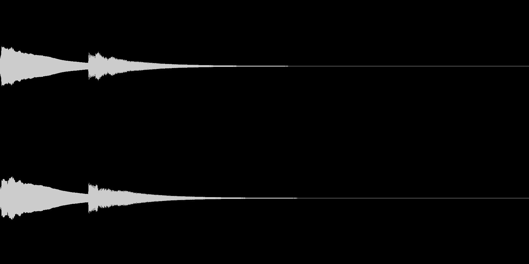 ピーンポーン(昔の呼び鈴)の未再生の波形