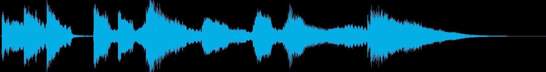 雫の音とギターとバイオリンの再生済みの波形