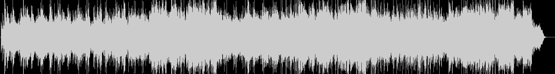 ピアノとケーナの爽やかな音楽の未再生の波形