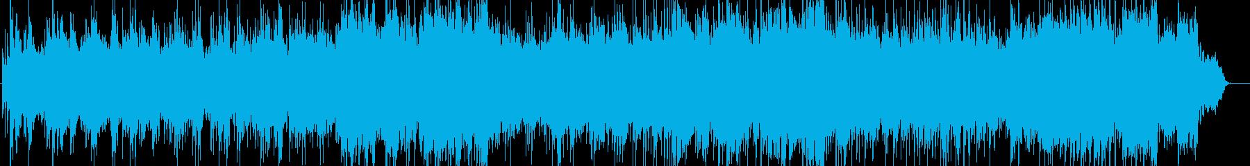 ピアノとケーナの爽やかな音楽の再生済みの波形