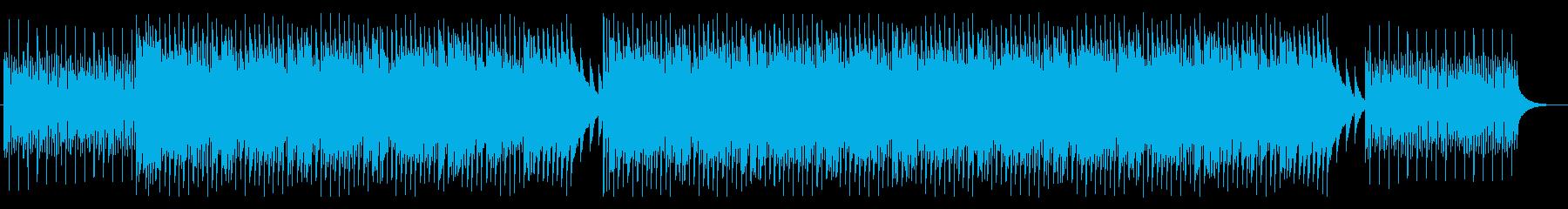 ウクレレで嬉しいハッピーな雰囲気のBGMの再生済みの波形