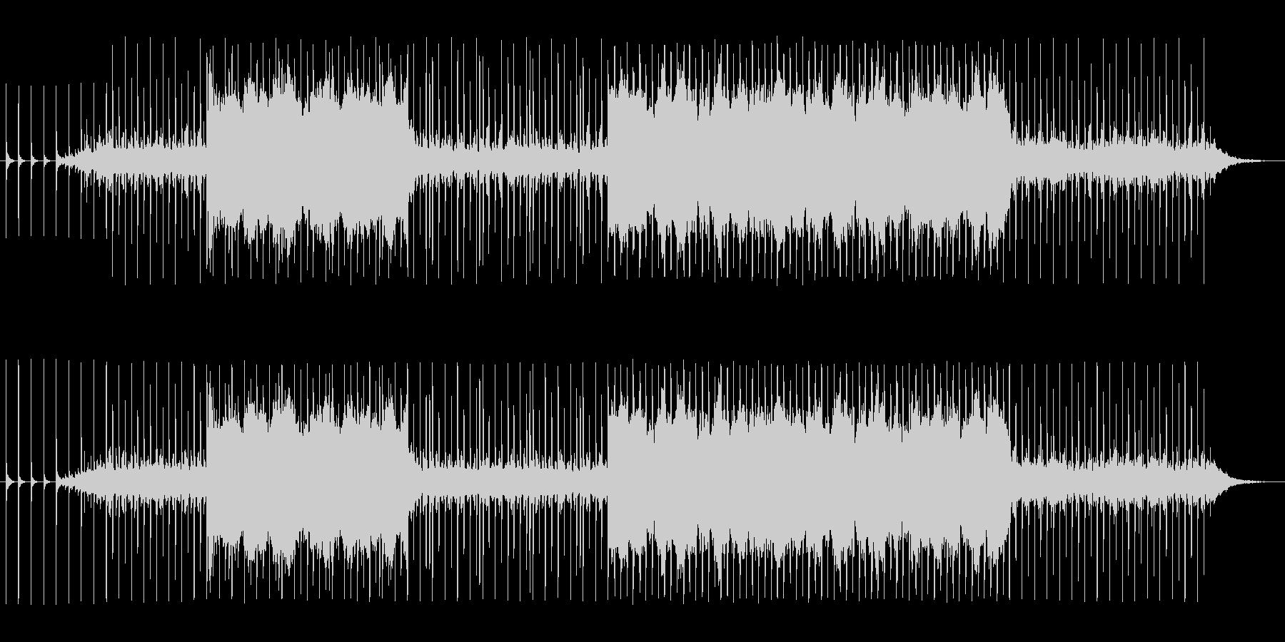 ノコギリや金槌などの工作音を使ったBGMの未再生の波形