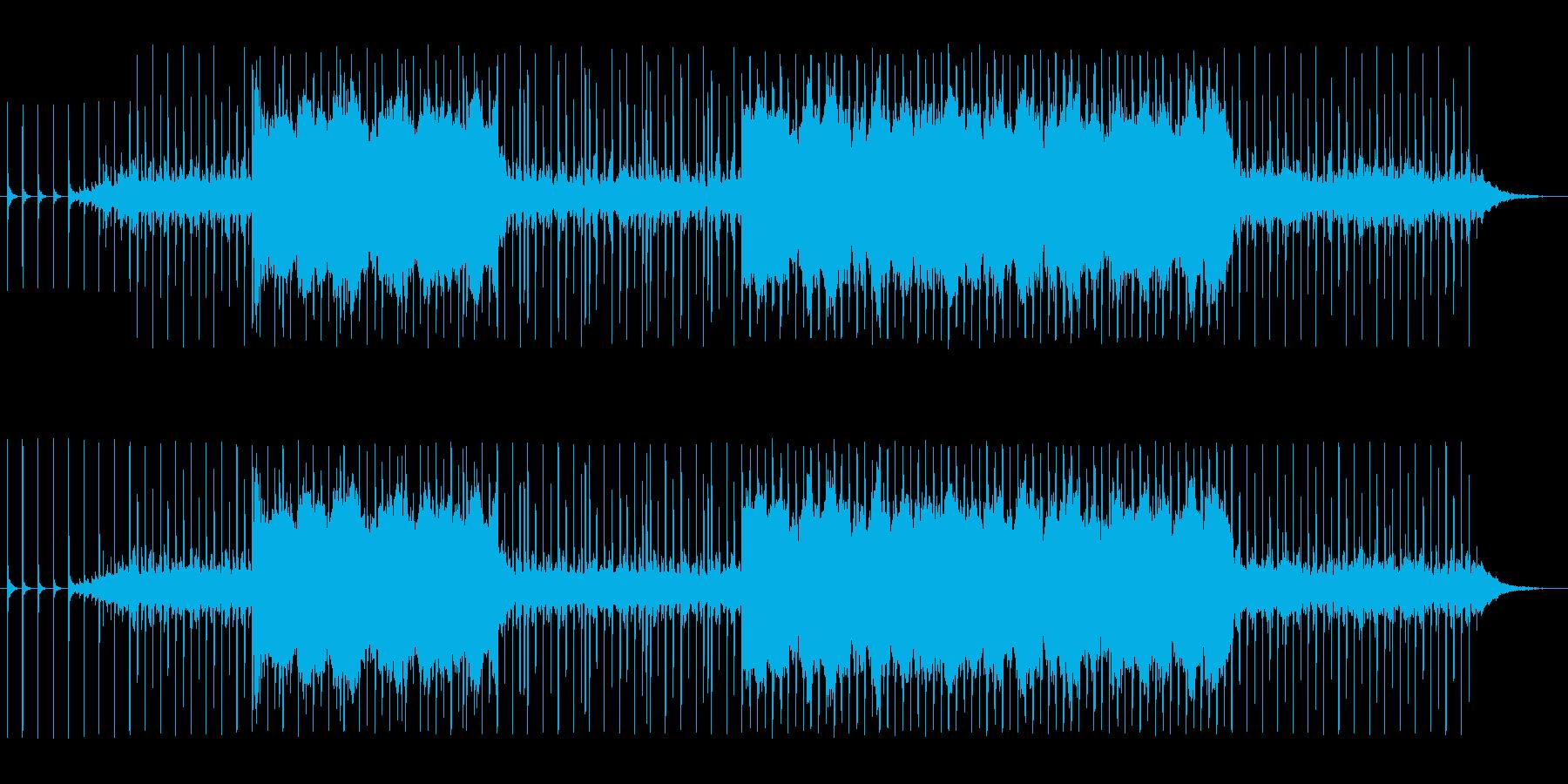 ノコギリや金槌などの工作音を使ったBGMの再生済みの波形