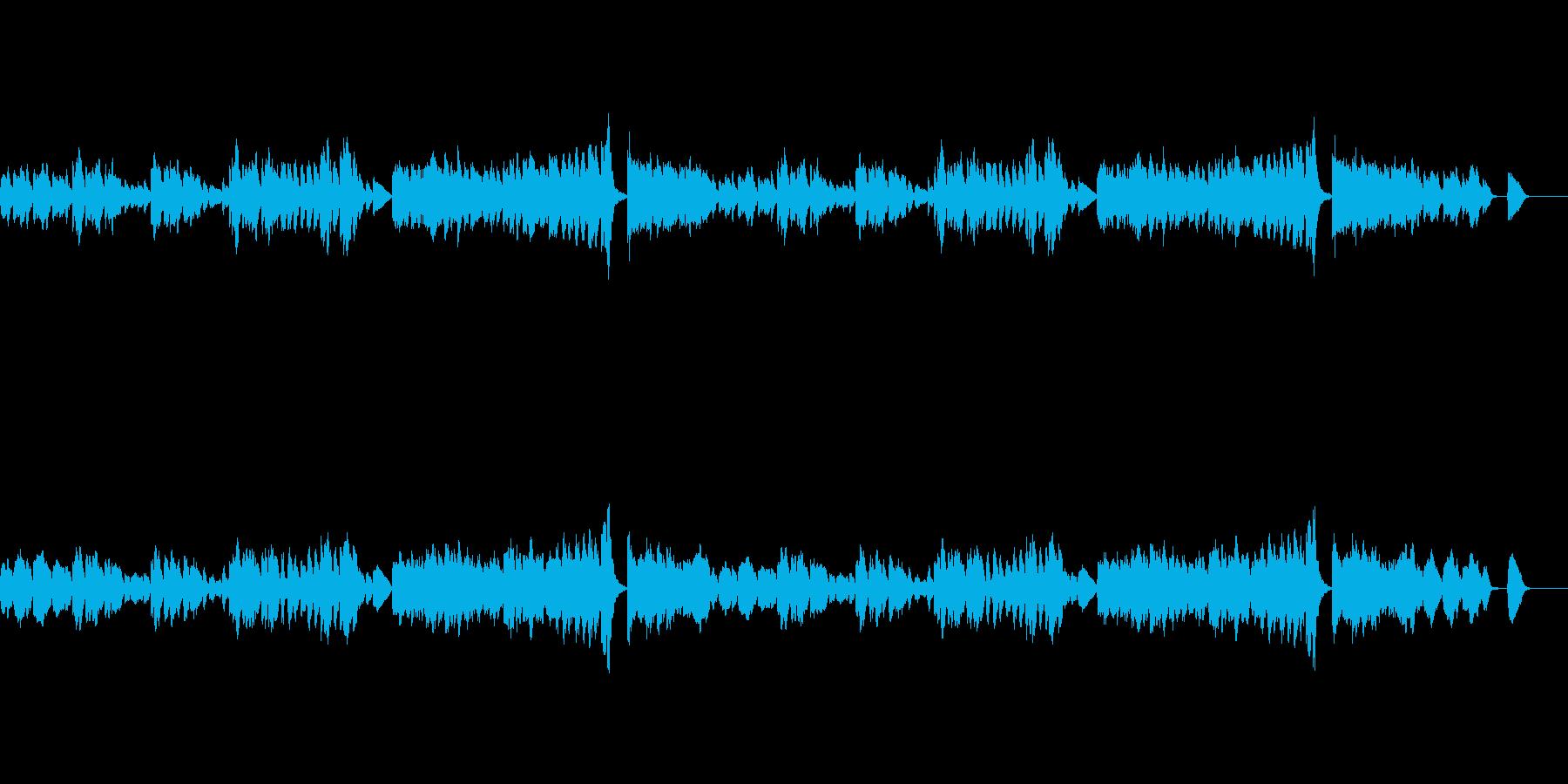 ほのぼのした軽快なピアノワルツの再生済みの波形