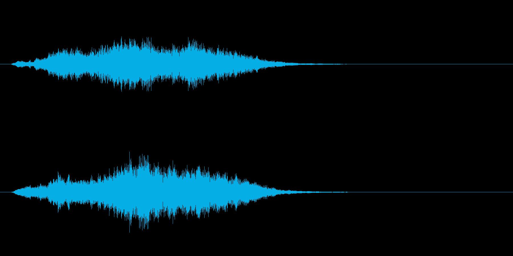 ジングル(サイエンス風)の再生済みの波形