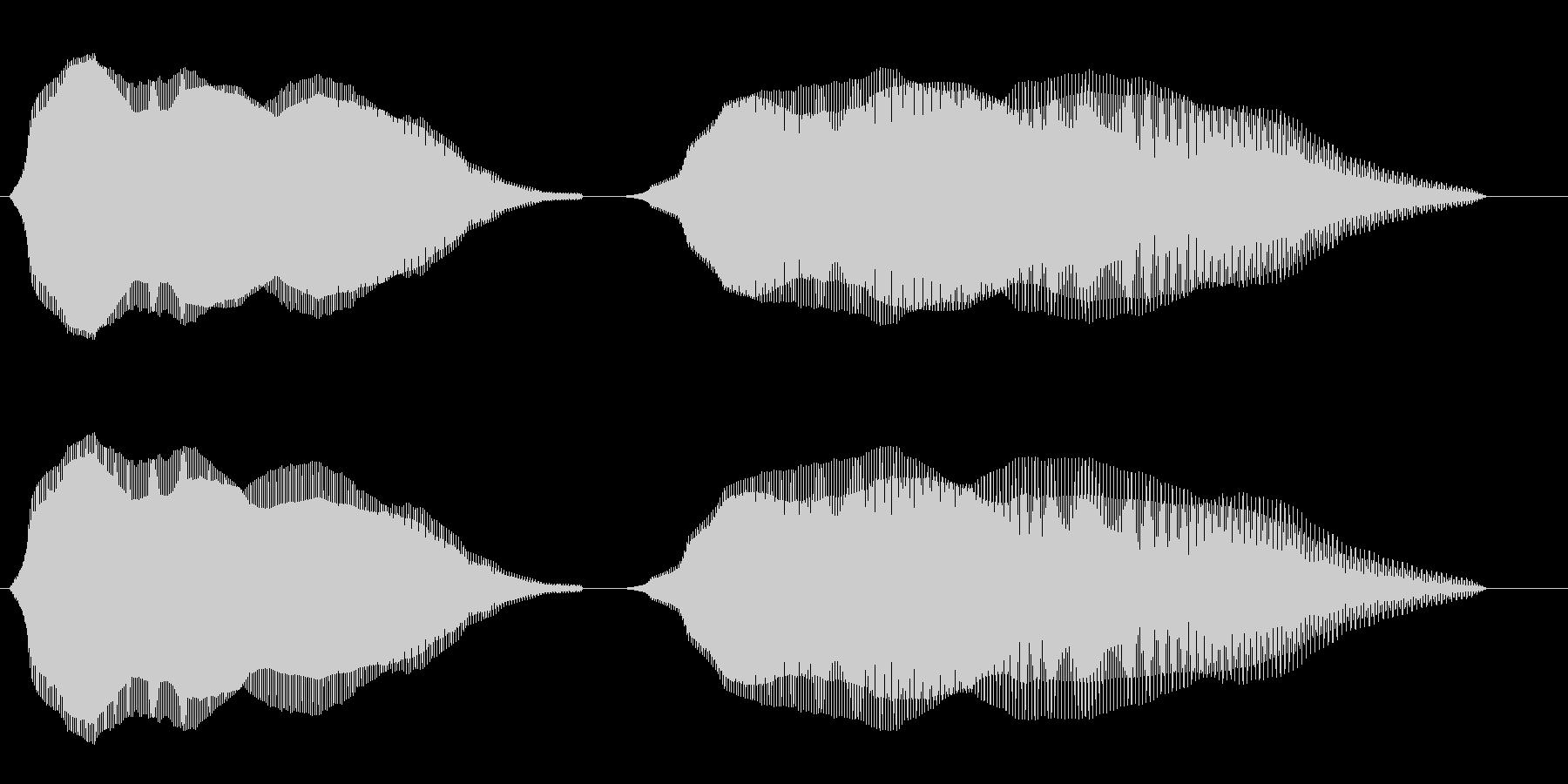 ふわふわ(コミカルな効果音)の未再生の波形