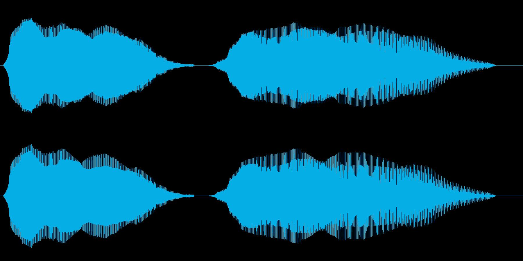 ふわふわ(コミカルな効果音)の再生済みの波形