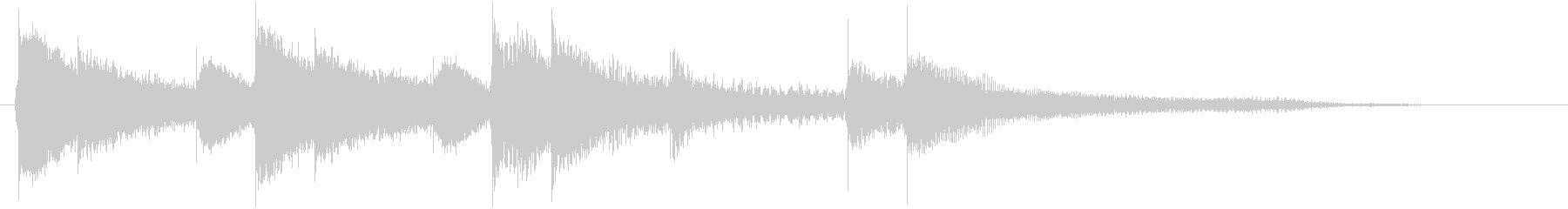 Cute and simple scene change jingle for piano's unreproduced waveform