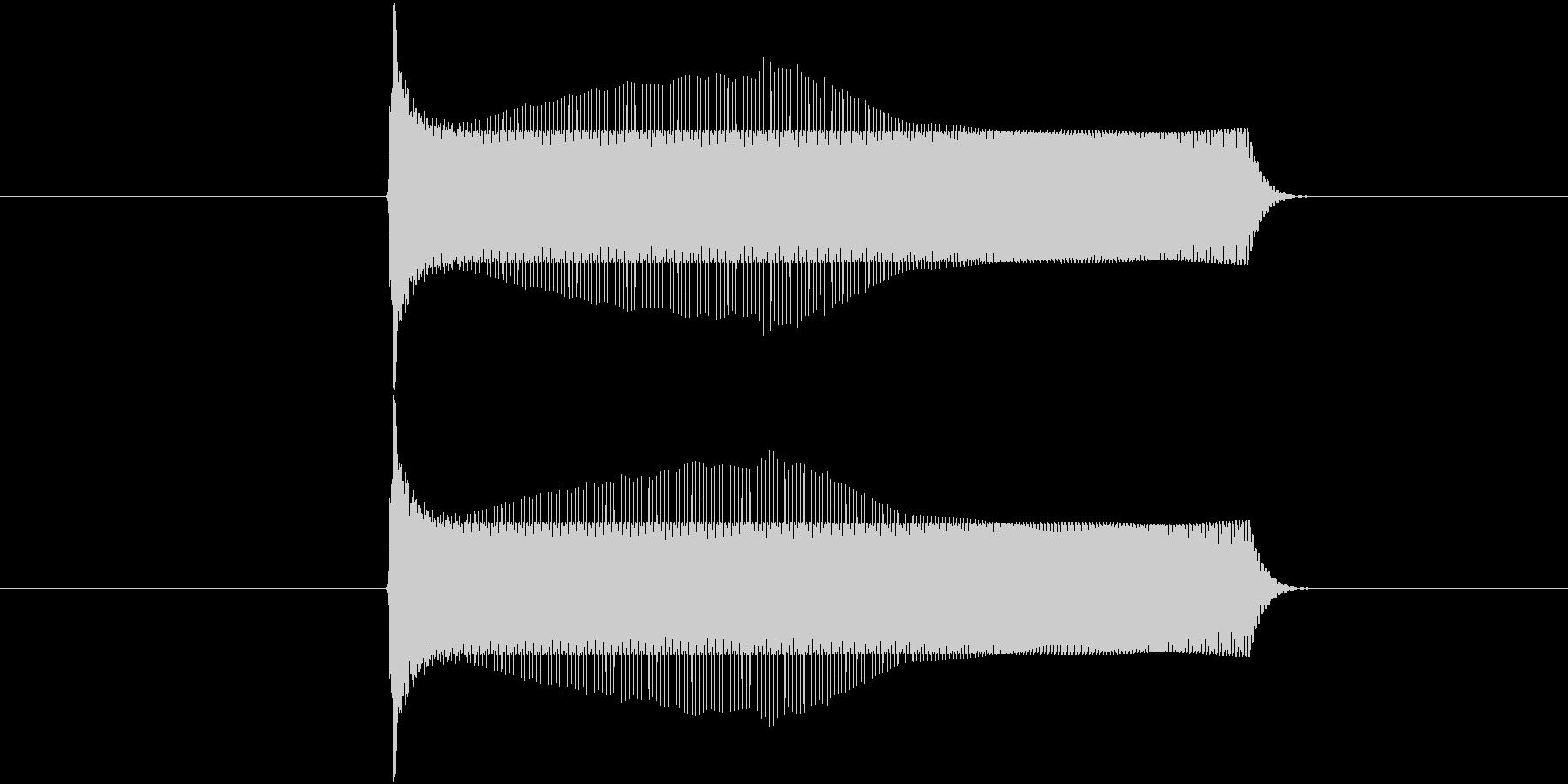 ポヨンとジャンプする音(1回)の未再生の波形