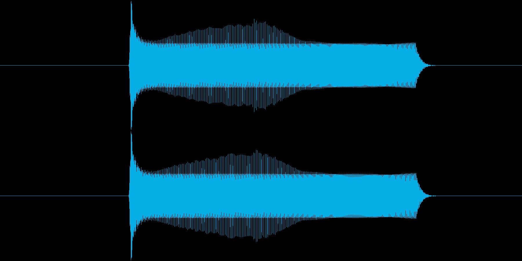 ポヨンとジャンプする音(1回)の再生済みの波形