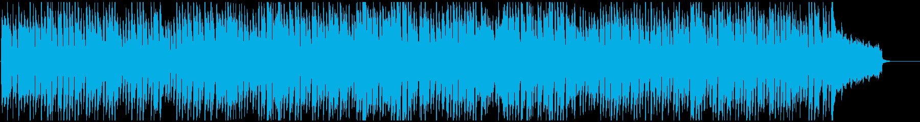 コメディ系の管楽器ポップス劇伴、サックスの再生済みの波形