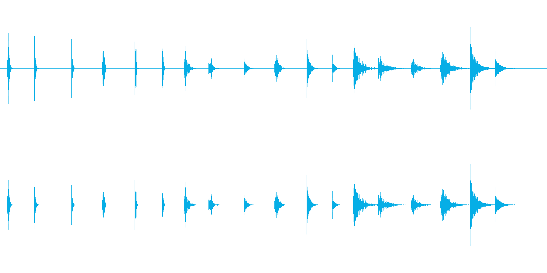 PEEPS&BEEPS、6バージョ...の再生済みの波形