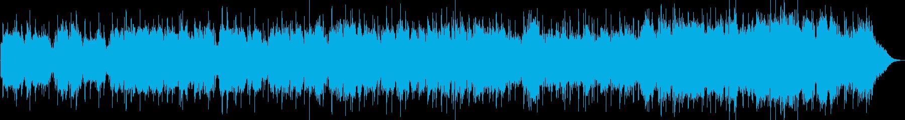 竹笛とシンセサイザーのヒーリング音楽の再生済みの波形