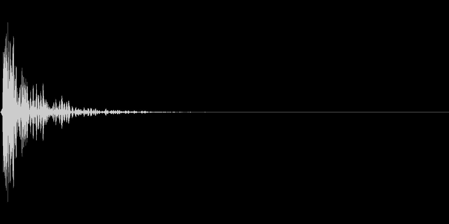 スタッフヒットシングルの未再生の波形