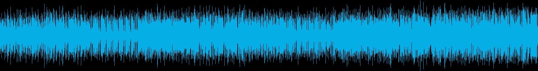 ループ可能な明るく楽しい音楽の再生済みの波形