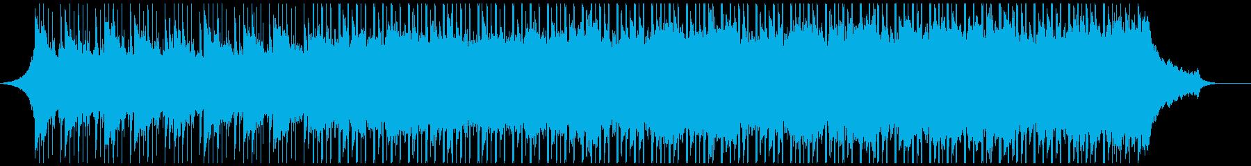 企業のバックグラウンドミュージックの再生済みの波形
