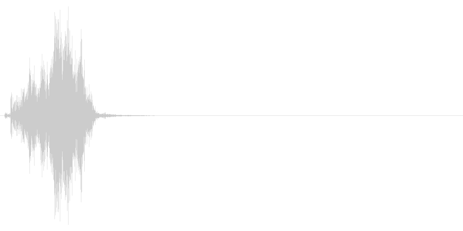 ジッパー、ファスナーを閉じる音2-4の未再生の波形